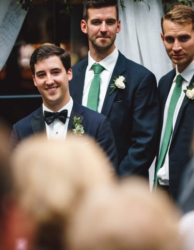 Sagamore Pendry Wedding Groom at Alter